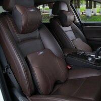 For BMW Genuine Leather headrest waist cushion neck cushion pillow E90 E70 E71 E60 E84 E89 F10 F15 F16 F30 interior decoration