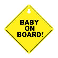 Ultra-thin Car Sticker BABY ON BOARD Baby Vinyl Waterproof Safety Sign Environmental Protection PP Suction Cup Style