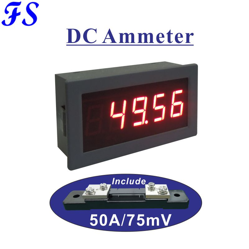 Measurement & Analysis Instruments Official Website 0.56 Led Digital Current Meter Dc 50a Dc Amp Panel Meter Ampere Meter Ammeter With Shunt 50a 75mv Supply Voltage Dc 5v 12v 24v Delaying Senility