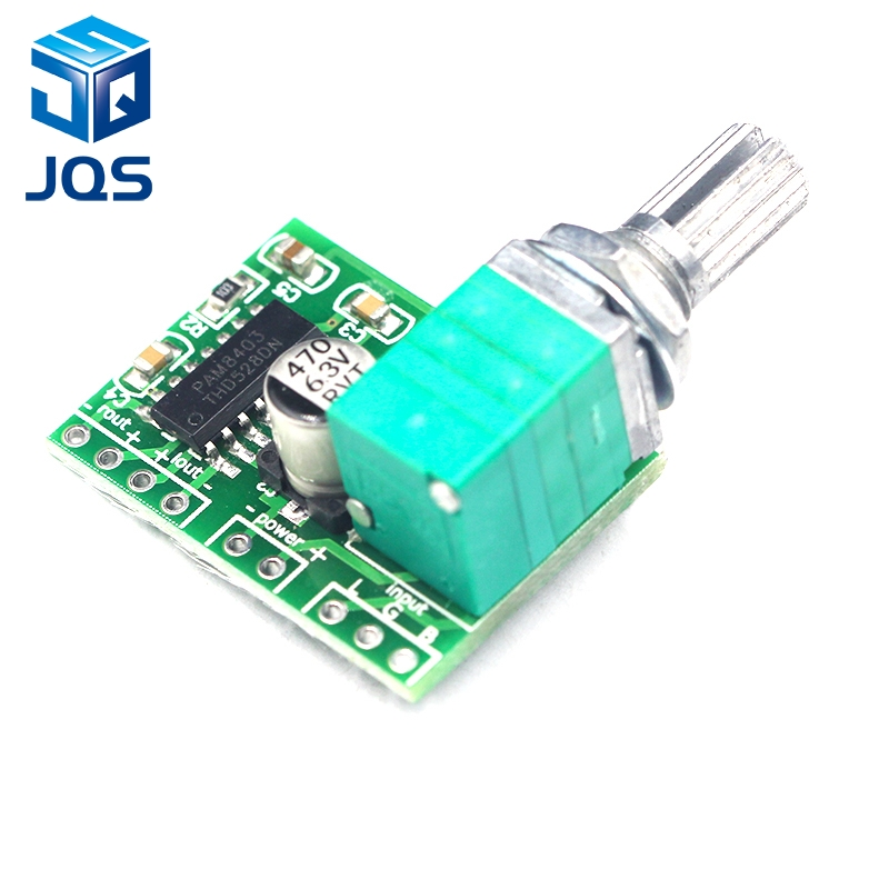 PAM8403 mini 5V digital amplifier board with switch potentiometer can be USB poweredPAM8403 mini 5V digital amplifier board with switch potentiometer can be USB powered