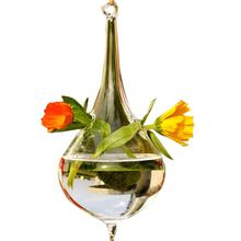 CSS woda szkło w kształcie kropli wiszący wazon butelka Terrarium pojemnik roślina kwiat Diy tabela ślubne dekoracje ogrodowe tanie tanio Blat wazon Vase Nowoczesne Other