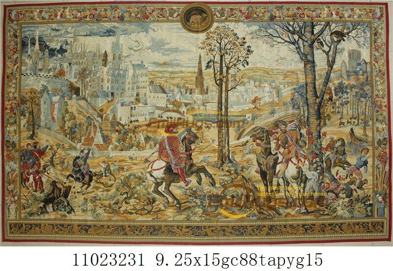 Tapijt Muur Tapestry Bloem Aubusson-Vintage Wol Bloemen Tapijt Esthetische Wandtapijt Wol