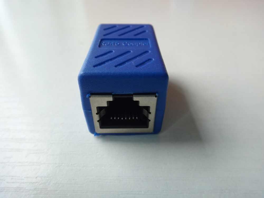 2019 RJ45 Coupler Ethernet Kabel Coupler Konektor Lan Inline Cat7/Cat6/Cat5e Ethernet Kabel Extender Adaptor Perempuan untuk wanita