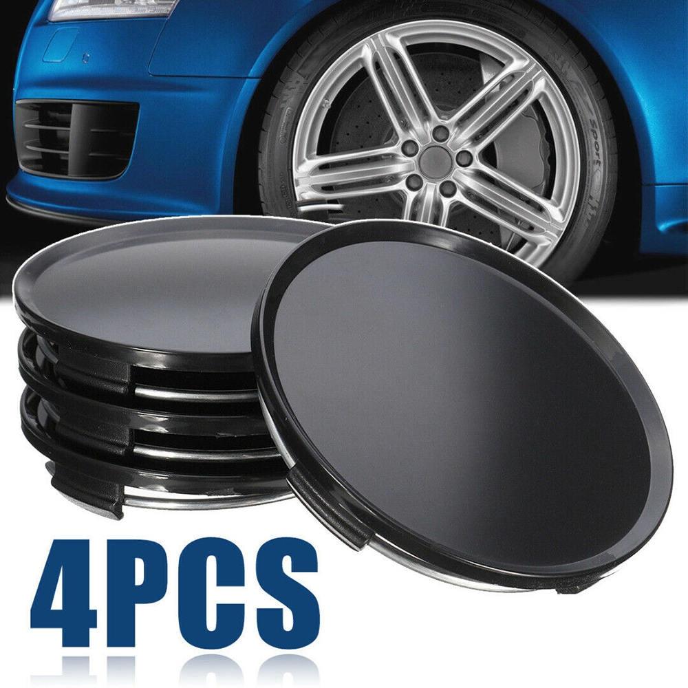 WHEELS CENTER CAPS Centro Tapas Llantas 4pcs UNIVERSAL VW black