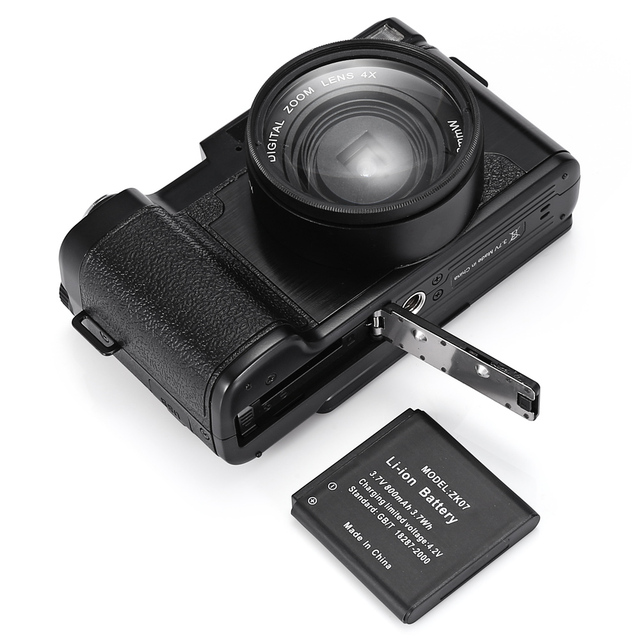 AMKOV CD – R2 24MP Digital Camera Video Camcorder with 3 inch TFT Screen with UV Filter 0.45X Super Wide Angle Lens