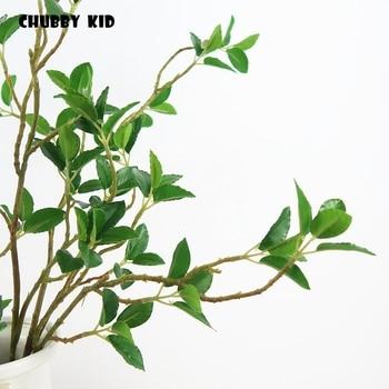 10pcs ! wholesale High simulation artificial milan tree wedding / engineering fake green plants elm leaf 70cm leaf of elm tree