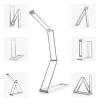 Rechargeable Dimmable LED Desk Lamp 2 Brightness Levels Aluminum Alloy Folding Lamp For Reading Studying Travel Lamp