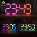 Mrosaa большой размер Радужная цветная цифровая трубка DS3231 часы DIY Набор времени Дата Будильник настольные часы светодиодный дисплей