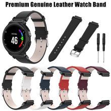 Smart Uhr Echtem Leder Sport Band Strap Handgelenk Band Uhr Band Für Garmin Forerunner 220 230 235 630 620 735 neue 2019