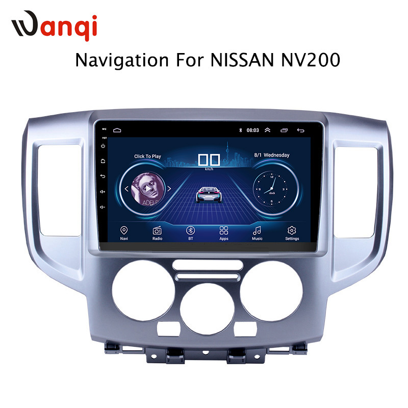 9 inch Android 8.1 Car GPS Navigation For Nissan NV200 2014 2018 Support Stereo Audio Radio Video Bluetooth