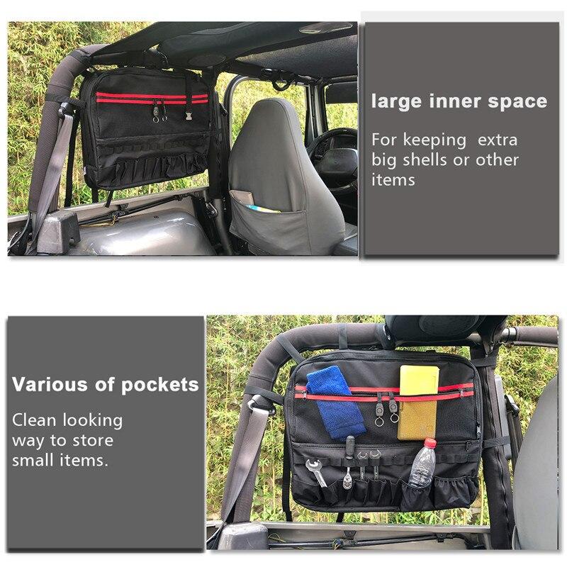Для Jeep Wrangler JK TJ CJ 2 дверная сумка для хранения инструментов сумка для седла боковая рулонная планка с несколькими карманами грузовая сумка ...