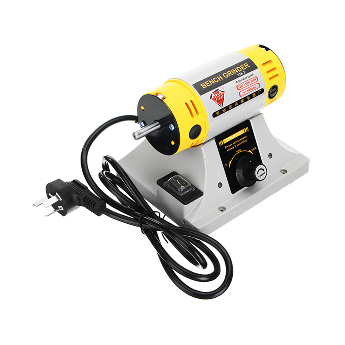 Image 3 - 220V 350W Polishing Machine for Jewelry Dental Bench Lathe Machine Motor Grinder With Accessories-in Polishers from Tools