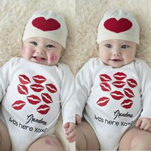 Babys Long Sleeve Printing Jumpsuits 0M-18M