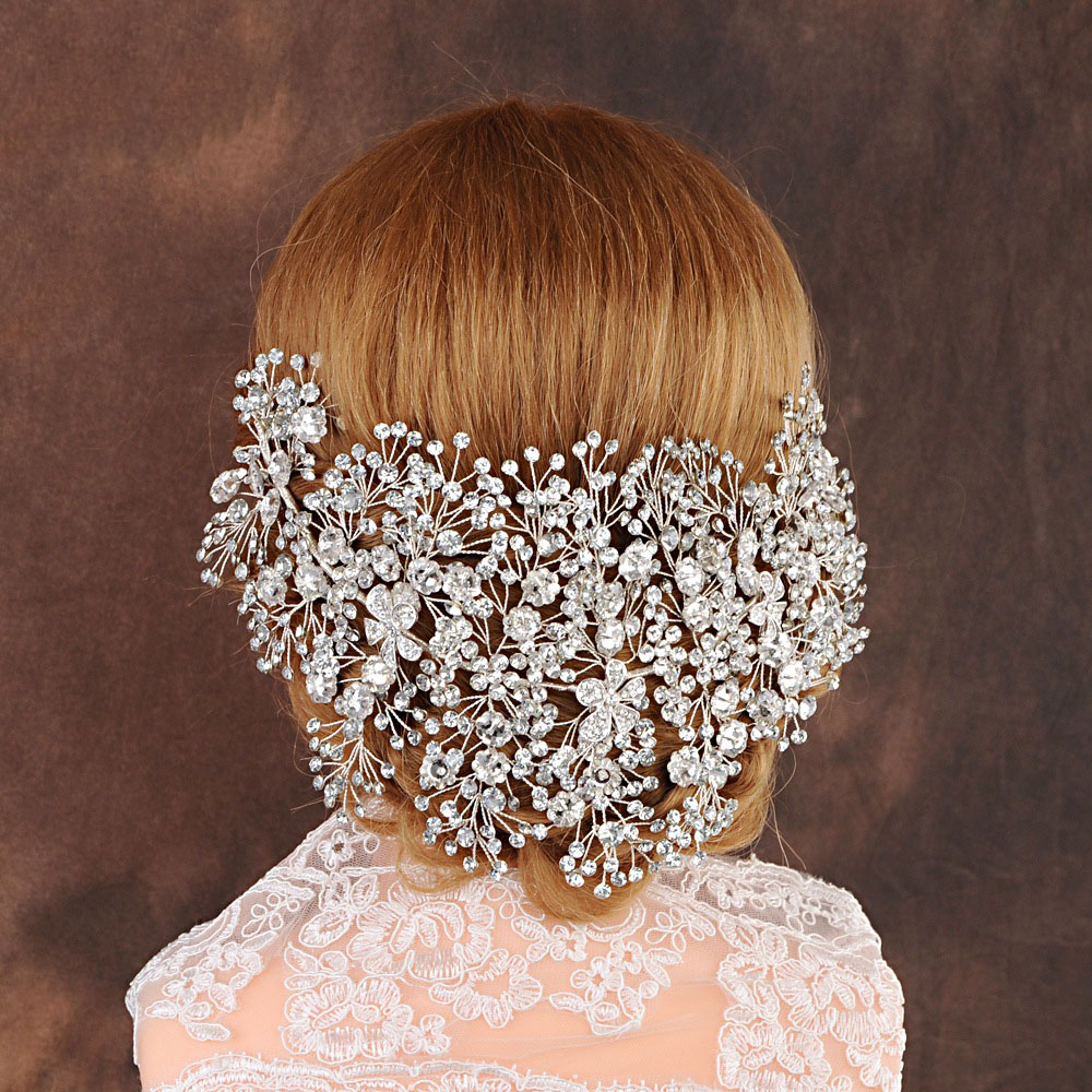 Luxury Clear Crystal Bridal Tiara Handmade Wedding Hair Jewelry Headband Accessories Headpiece Women Crowns Pageant-in Hair Jewelry from Jewelry & Accessories on Aliexpress.com   Alibaba Group