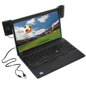 Image 1 - Altavoz Mini estéreo USB portátil, barra de sonido con Clip, para Notebook, portátil, teléfono, reproductor de música, ordenador, PC