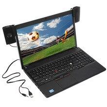 휴대용 미니 USB 스테레오 스피커 사운드 바 clipon 스피커 노트북 노트북 전화 음악 플레이어 컴퓨터 PC 클립