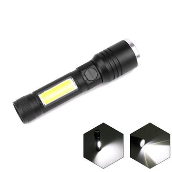 50000LM LED COB Flashlight USB Rechargeable Torch with Built-in Battery 4 Modes