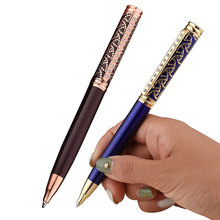Retro Engraved Diamond Pen Office Meeting Metal Ballpoint College Business Student Hot Sale Gift