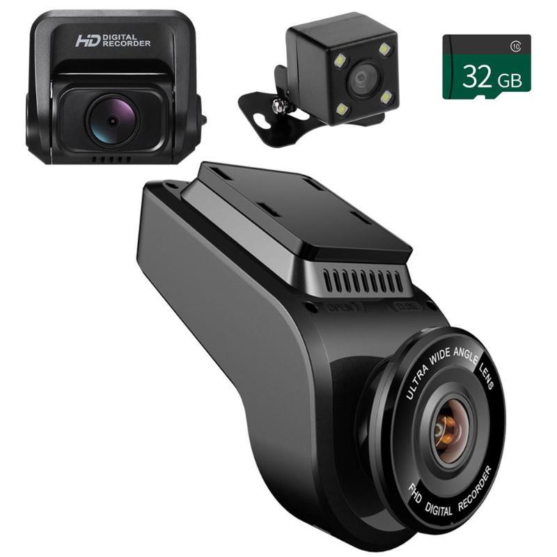 "Anytek 2.7/"" Touch Screen Dual Lens 4K UHD WiFi Night Vision GPS Car DVR Camera"