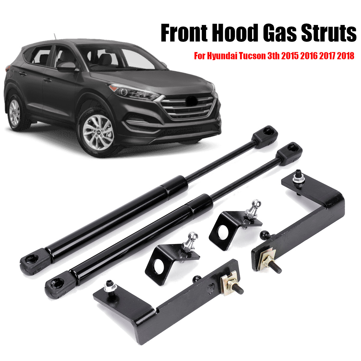 2 Rear Hatch Lift Supports Struts Prop Rod Shock Arm Set Gas Replacement Pair