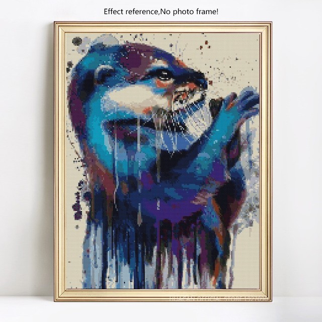 HUACAN Full Square Diamond Painting Animal 5D DIY Diamond Embroidery Handmade Mosaic Decoration Home Picture Of