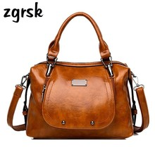 цены Luxury Women Handbag Designer Women Bag High Quality Oil Wax Leather Ladies Crossbody Bag Brand Shoulder Bags For Women Tote