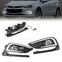 2Pcs Car LED Daytime Running Light For Chevrolet Cruze 2016 2017 Auto Fog Light Lamp DC 12V