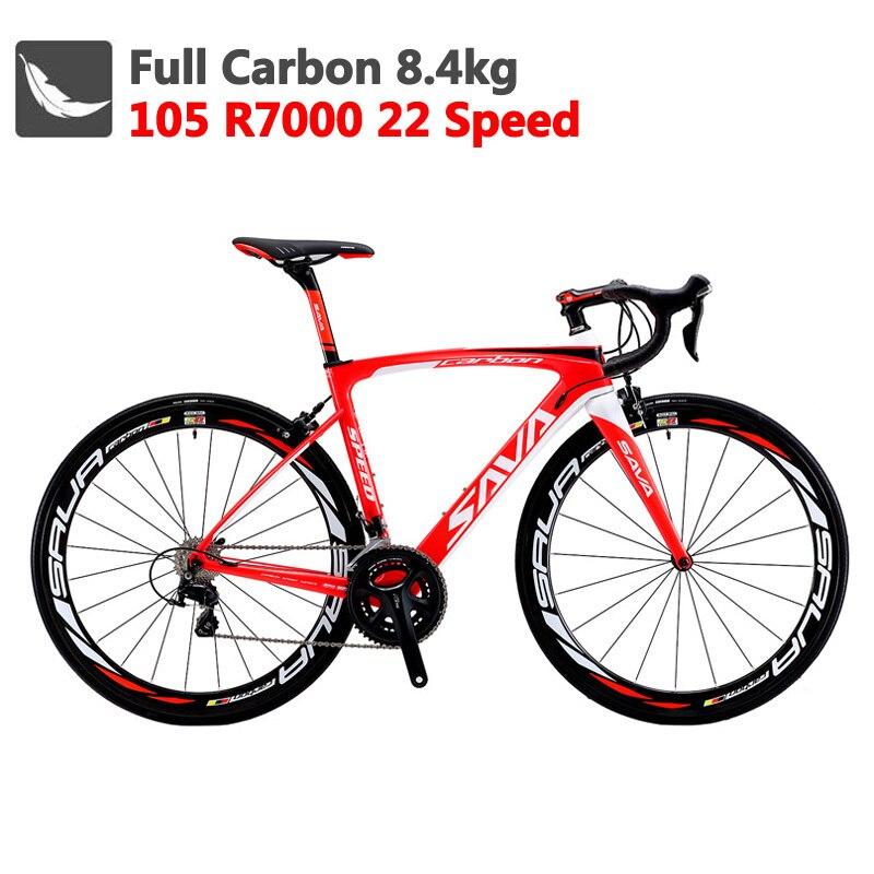Vélo de route en carbone Sava 700c vélo de route en carbone Herd6.0 vélo en carbone avec vélo de route de course Shimano 105 R7000 Bici