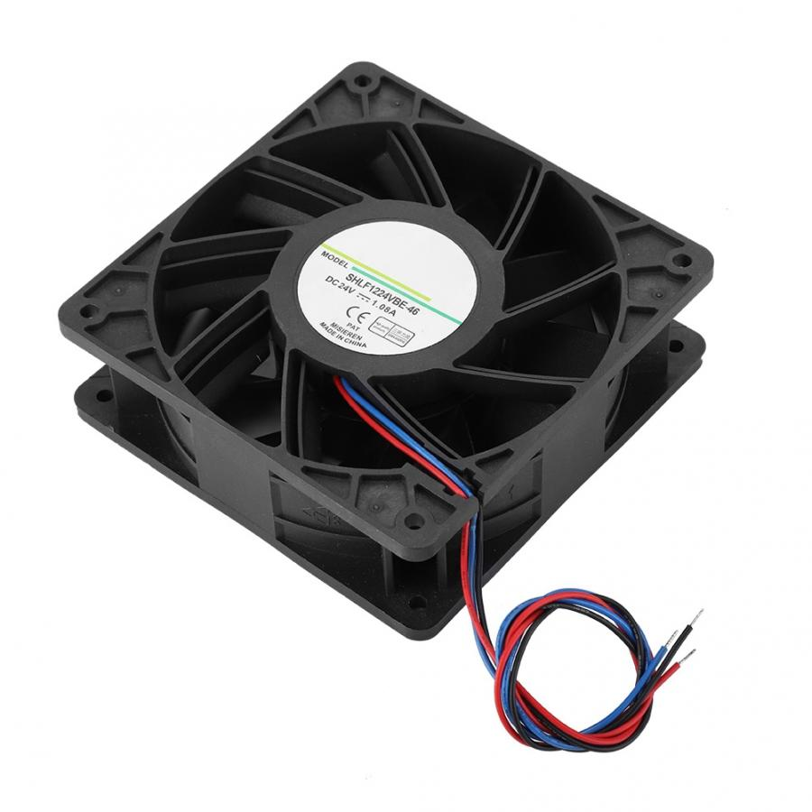 Home Fan Cooling For Pc Shlf1224vbe-46 Dc24v 12cm Industrial Chassis Fast Heat Dissipation Cooling Fan Cooler 2019 Elegant In Style