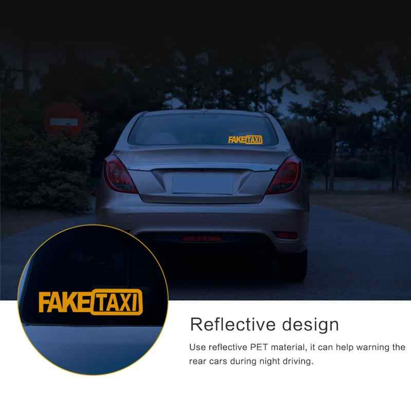 1 pièces drôle voiture autocollants faux TAXI réfléchissant haut gaz vide autocollants voiture style fenêtre décalcomanie bâches de voiture moto 20 CM * 4.3 CM