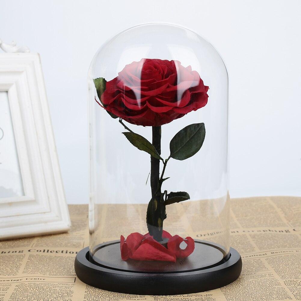 Розовое стекло покрытие праздничное свадебное оформление immity стекло сохраненные свежими цветами Романтический День Святого Валентина вечный цветок