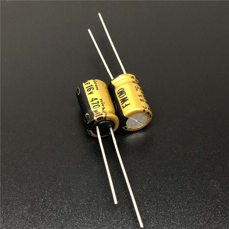 10Pcs/100Pcs 470uF 16V NICHICON FW Series 8x11.5mm 16V470uF HiFi Audio Capacitor