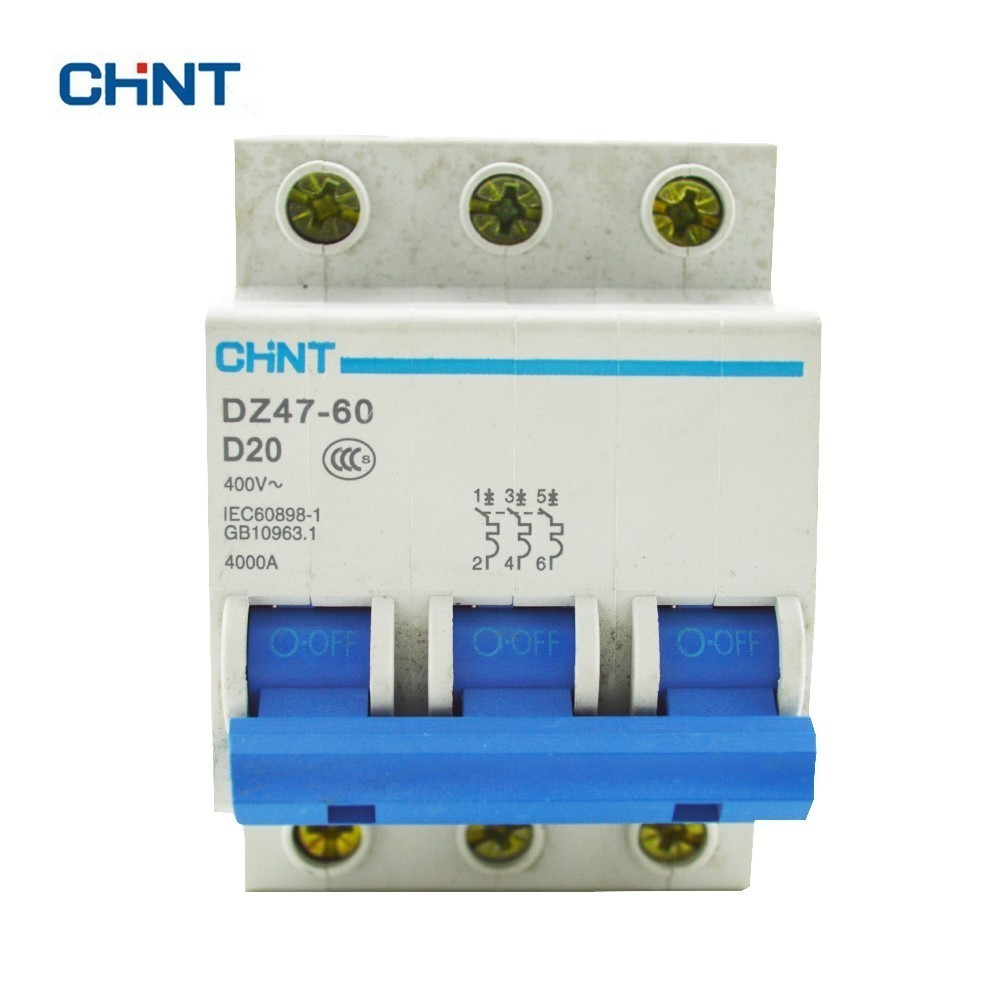 medium resolution of chint mini circuit breaker dz47 60 3p d20 a safe and effective voltage protection device house air switches