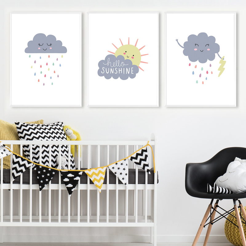 Us 2 88 49 Off You Are My Sunshine Nursery Print Weather Art Canvas Painting Nordic Posters And Prints Wall Pictures Baby Room Decor In