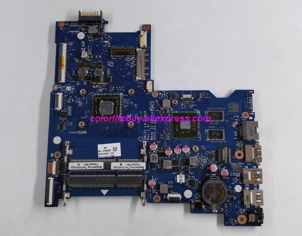 Натуральная 818487 501 818487 001 818487 601 R5M330/1 GB A6 6310 ABL51 LA C781P материнская плата для ноутбука hp 15 AF серии ноутбук ПК-in Материнская плата для ноутбука from Компьютер и офис
