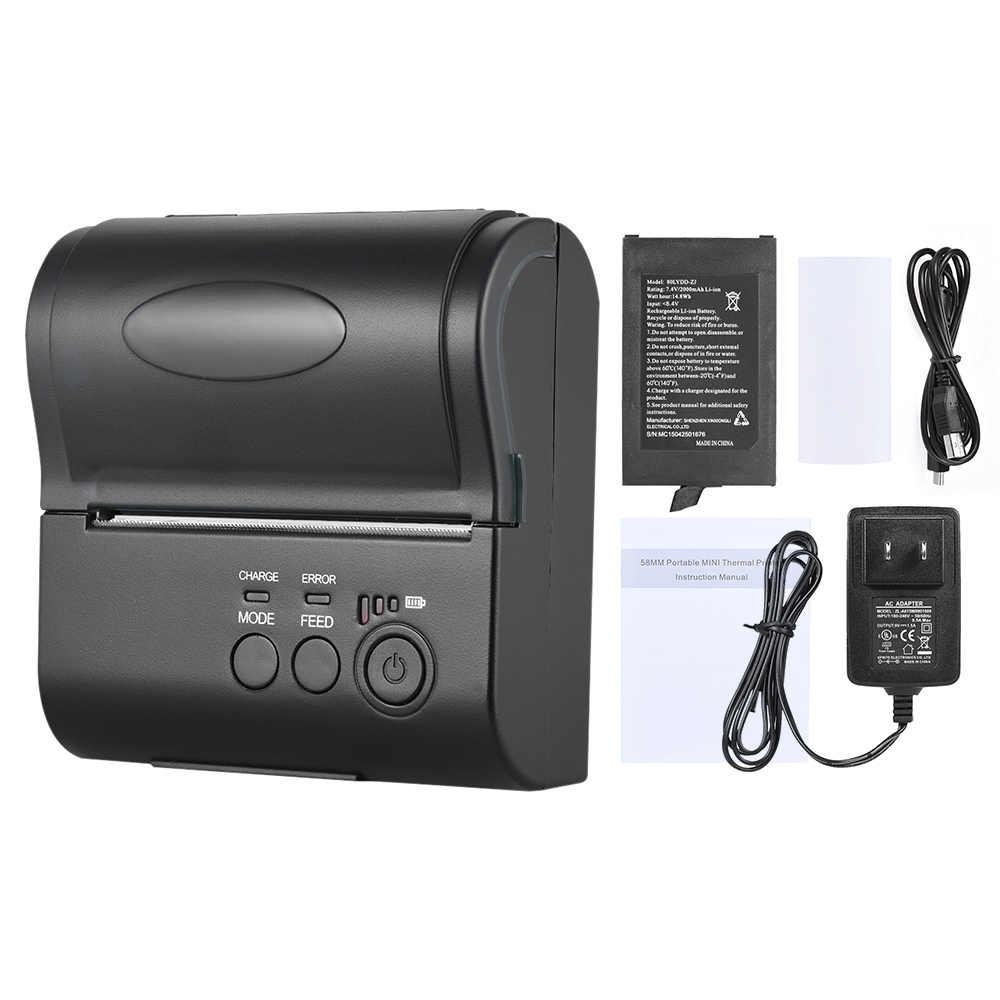 POS-8001DD 80 milímetros Mini Portátil USB Wireless Impressão Bill Ticket POS Recibo Impressora Térmica para Android iOS do Windows