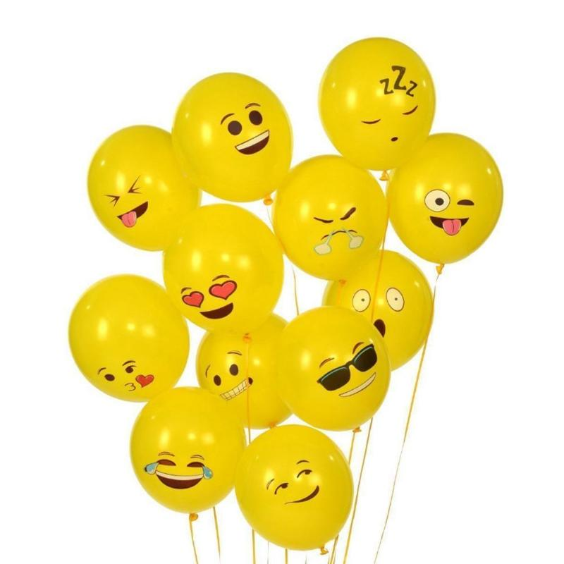 Yellow Smiling Face Expression Emoji Latex 12 Inch Balloons 10pcs Birthday/wedding Supply Kids Funny Inflatable Toy Party Decor Outdoor Fun & Sports Toys & Hobbies