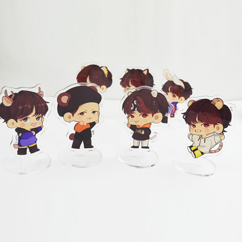 1 Pc Cute Anime BTS Bangtan Boys Acrylic Stand Model Toys Action Figure Pendant Toy Kids Gift