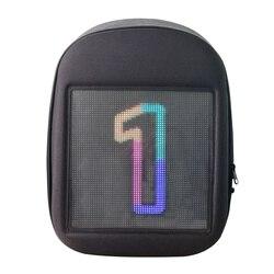 Светодиодный экран динамический рекламный рюкзак DIY WiFi светодиодный город ходьба реклама сумка для ноутбука свет