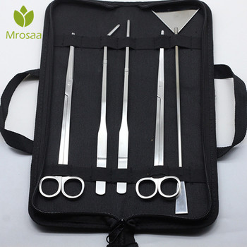 5pcs/set Aquarium Maintenance Tools Kit Tweezers Scissors For Live Plants Grass Aquario Accessory Fish Aquatic Pet Supplies
