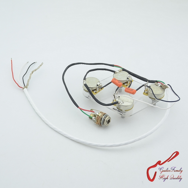 1 set guitarfamily electric guitar pickup wiring harness for lp sg dot 4x cts 500k pots. Black Bedroom Furniture Sets. Home Design Ideas