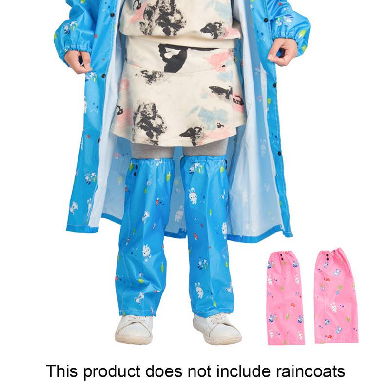 Outdoor Climbing Hiking Walking Rain Gear Children Cartoon Pattern Raining Proof Trousers Sleeve for Kids