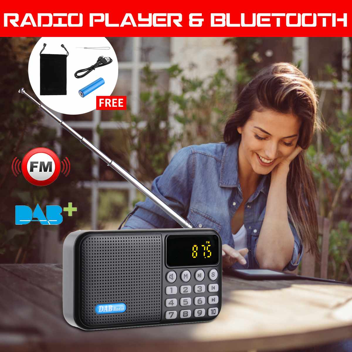 Original Digitale Dab Dab Fm Radio Player Empfänger Mit Bluetooth Stereo Lautsprecher Portable Outdoor Fm Empfänger Ältere Weihnachten Geburt Geschenk Tragbares Audio & Video