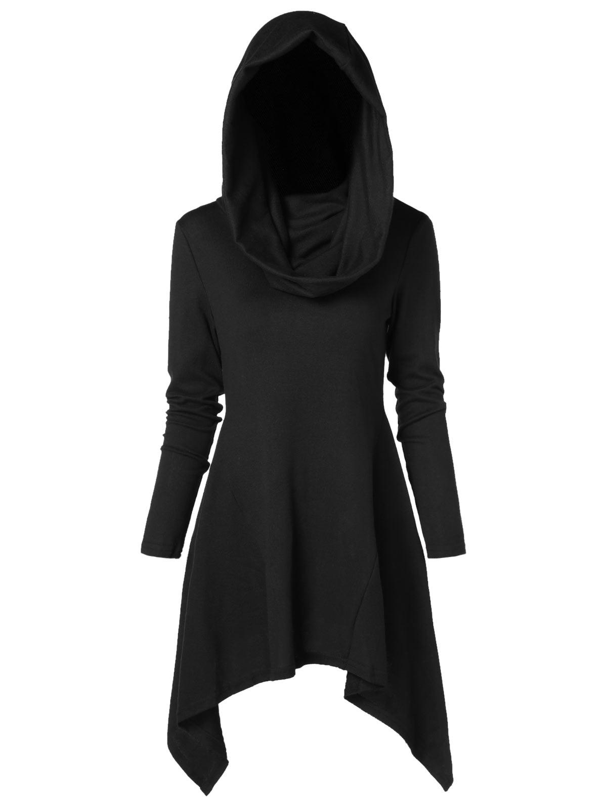 Wipalo 2018 Fall Winter Women Hooded Long Sleeves Asymmetrical Knitwear Casual Solid Pullovers Sweatshirts Ladies Hoodies Tops