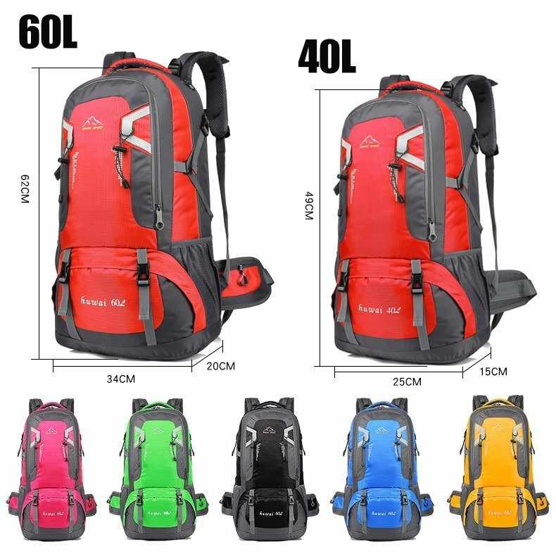 3e6fdbeb89 ... 40L 60L Waterproof Outdoor Travel Backpack Camping Trekking Bag For Man  Woman Climbing Hiking Rucksack Fishing ...