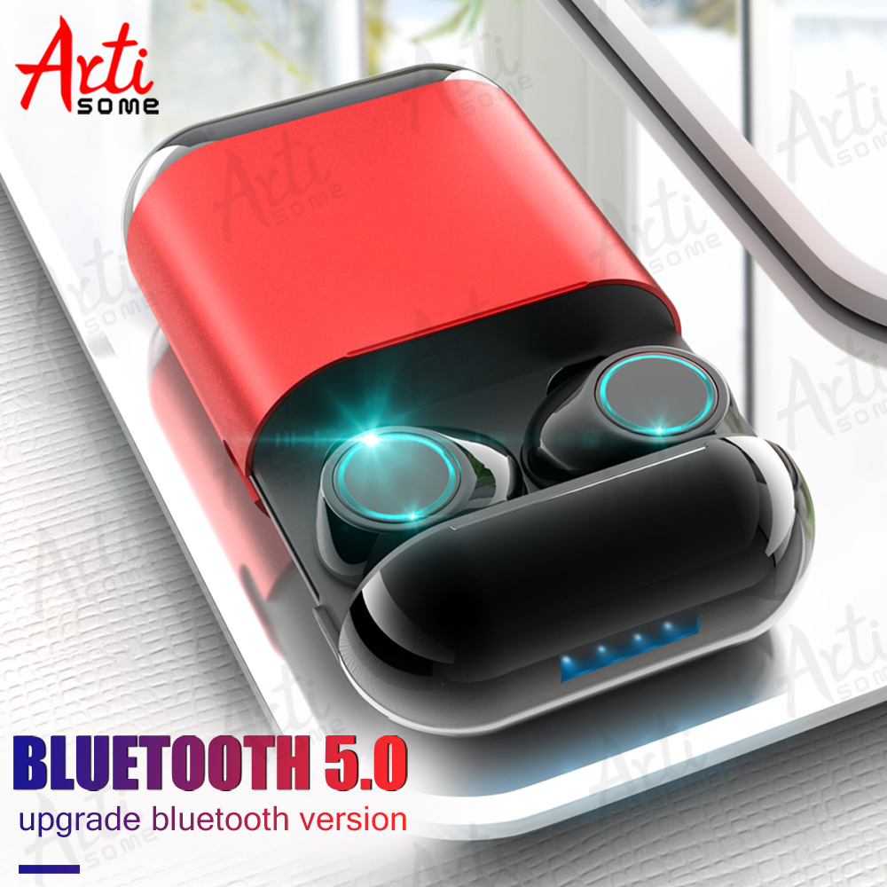 Artisome bluetooth sans fil Écouteur TWS oreillettes bluetooth Casque Stéréo V5.0 écouteurs bluetooth Avec Mic et Cas De Charge