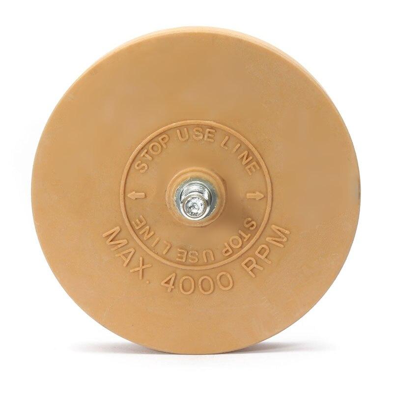 4 Zoll 90mm Pneumatische Werkzeuge Luft Reifen Puffer Reifen Kleber Gelb Entfernen Gummi Rad Radiergummi Luft Sterben Schleifer Rad Für Elektrische Bohrer