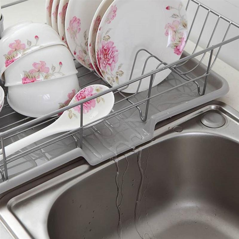 1 PC Durable Household Storage Stainless Steel Bowl Plate Rack Cookware Drying Rack With Drainboard And Chopsticks Holder in Storage Holders Racks from Home Garden