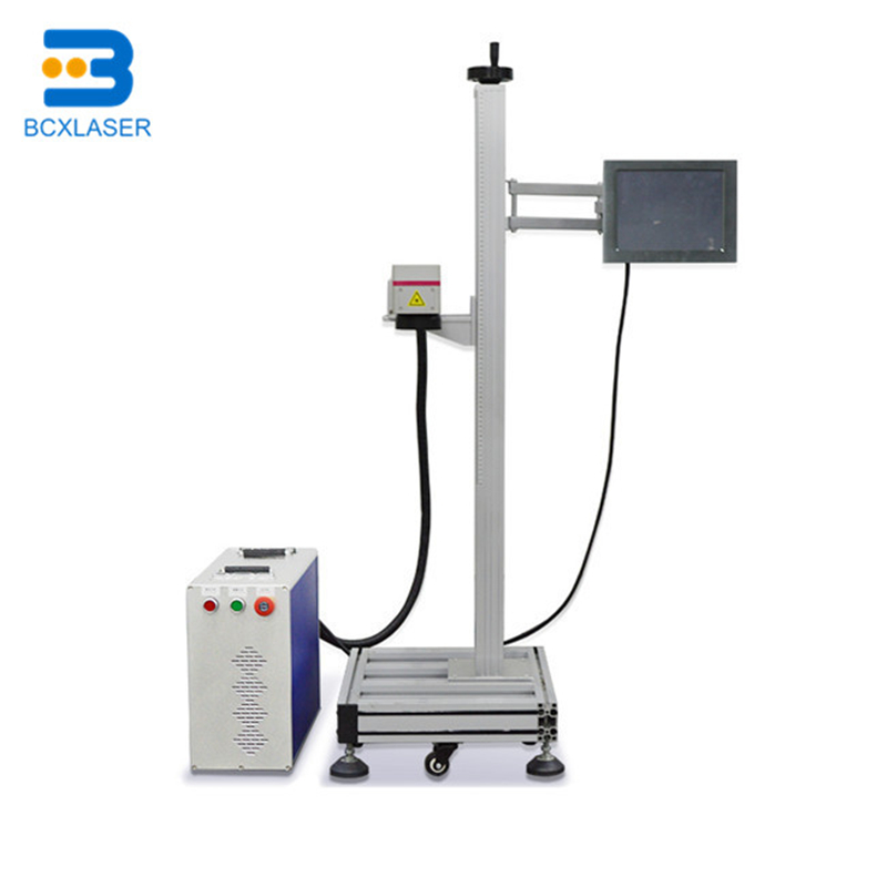 Hot sale production line 20w 30w 50w online flying laser marking machine