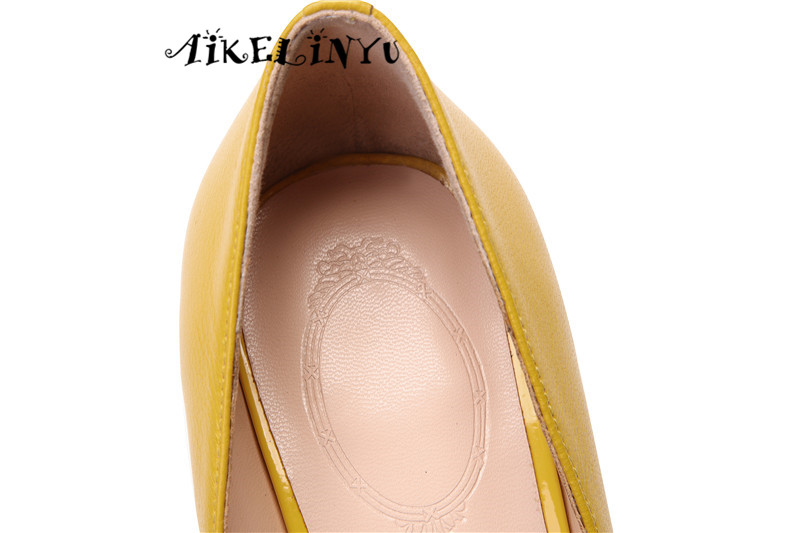 AIKELINYU Fashion Sexy Women Genuine Leather High Heels Pumps Spring Summer Cusp End Party Wedding Shoes Woman Stiletto Pumps in Women 39 s Pumps from Shoes